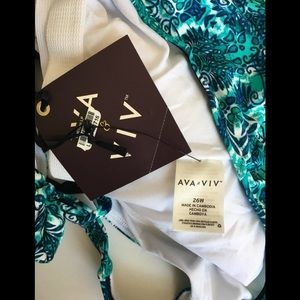 Ava & Viv Swim - NWT Ava Viv Takini. 26W. Brand New with Tag